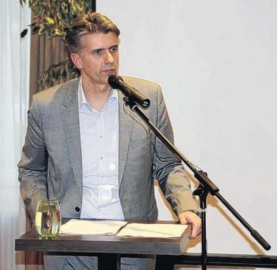 """Für ein """"Europa der souveränen Nationalstaaten"""" warb der stellvertretenden AfD-Landessprecher Dr. Marc Jongen."""