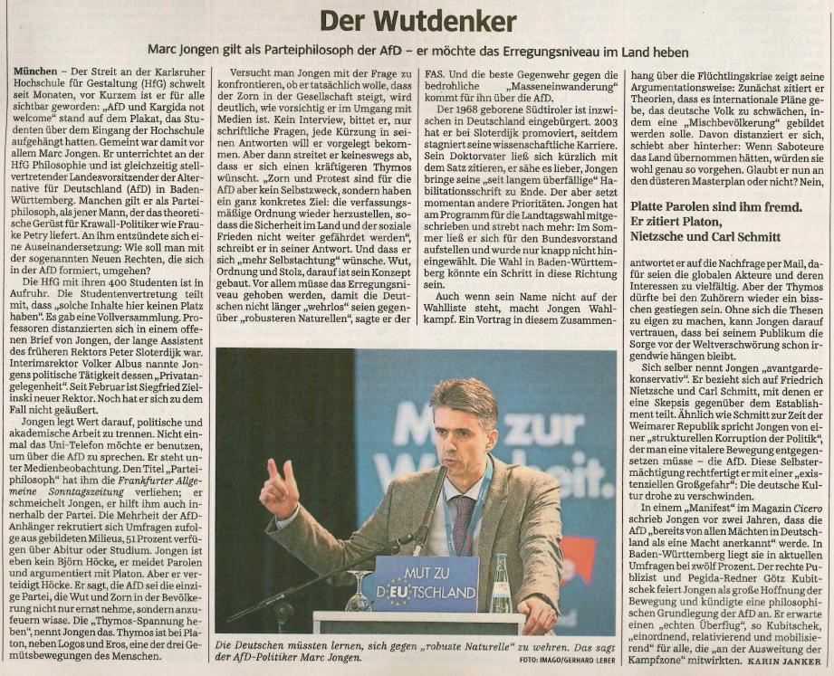 Der Wutdenker - Süddeutsche Zeitung