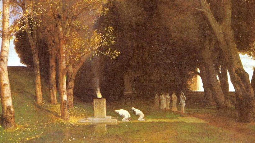 "Die Kunst des Opfers: Arnold Böcklins ""Heiliger Hain"" (1882) © Arnold Böcklin/Wikimedia Commons"
